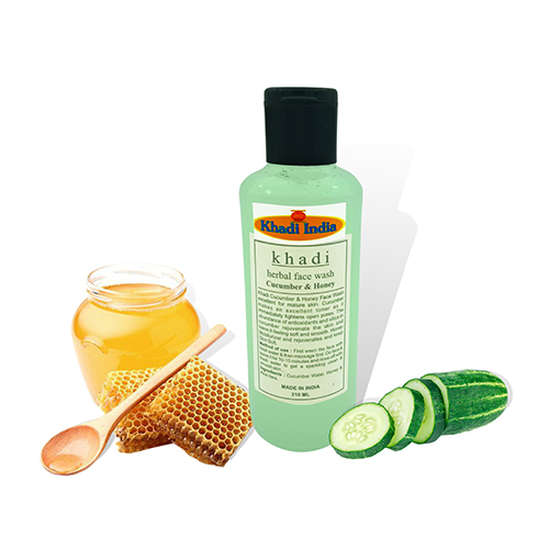 Khadi Cucumber & Honey Herbal Face Wash 210 ml