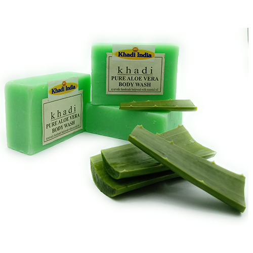 Khadi India Aloe Vera Soap Pack of 3 (125 gm Each)