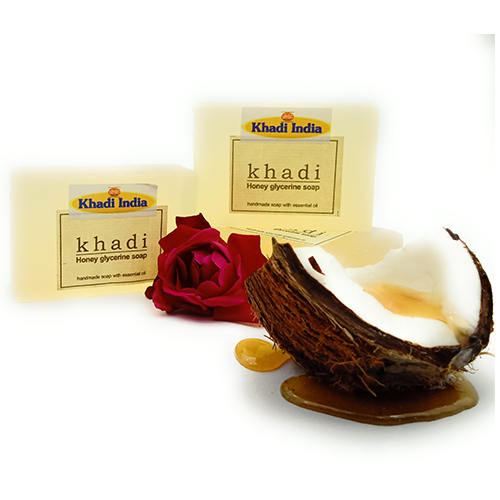 Khadi India Honey Glycerin Soap Pack of 3 (125 gm Each)