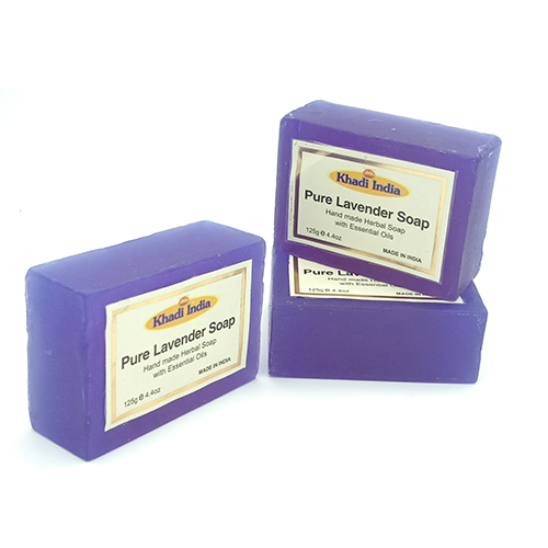 Khadi India Lavender Soap pack of 3 (125 gm Each)