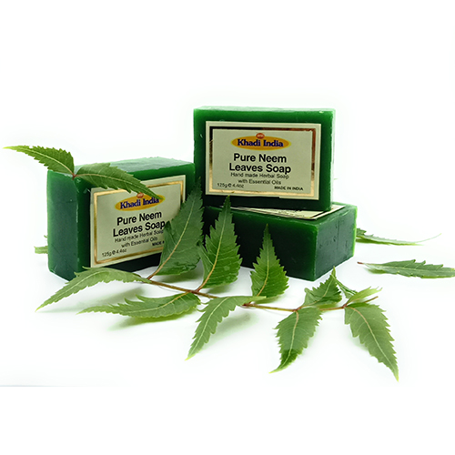 Khadi India Neem Leaves Soap Pack of 3 (125 gm Each)