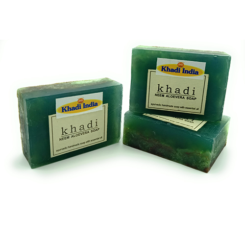 Khadi Neem Aloe Vera Soap 125 gm (Pack of 3)