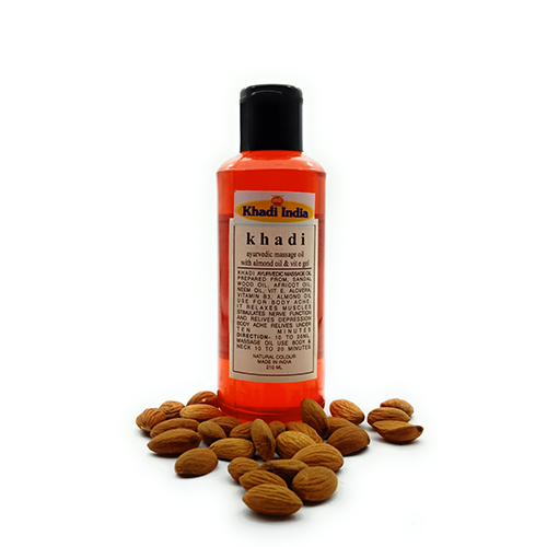 Khadi Ayurvedic Massage Oil with Almond Oil & VIT E Oil 210 ml