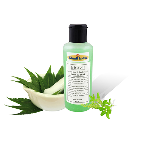 Khadi Neem Tulsi Face & Body Wash 210 ml