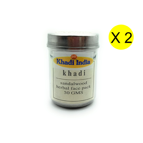 Khadi Sandalwood Herbal Face Pack 50 gm (Pack of 2)