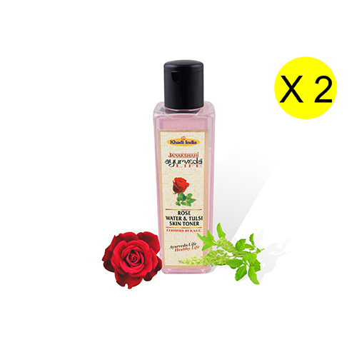 Janakshahi Rose & Tulsi Skin Toner 200 ml (Pack of 2)